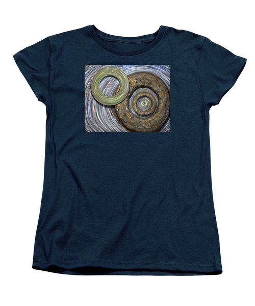 Women's T-Shirt (Standard Cut) featuring the painting Threes A Crowd by Jacqueline Athmann