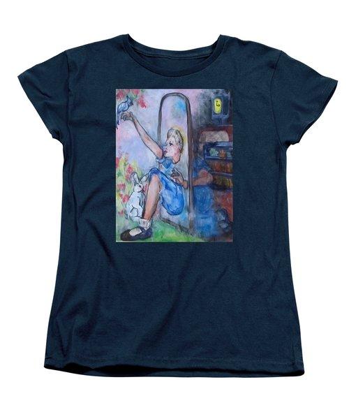 Through The Looking Glass Women's T-Shirt (Standard Cut) by Barbara O'Toole