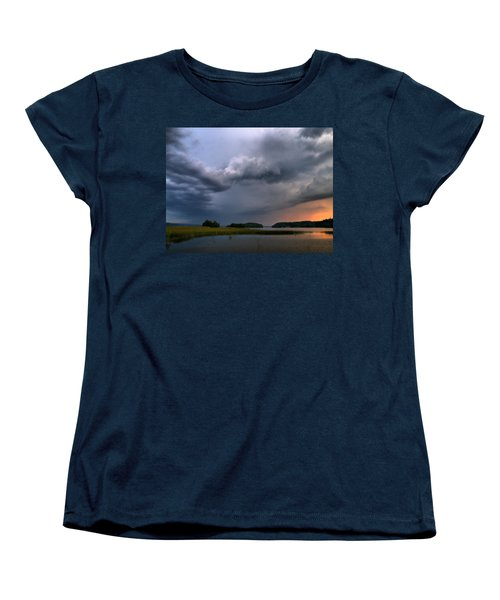 Women's T-Shirt (Standard Cut) featuring the photograph Thunder At Siuro by Jouko Lehto