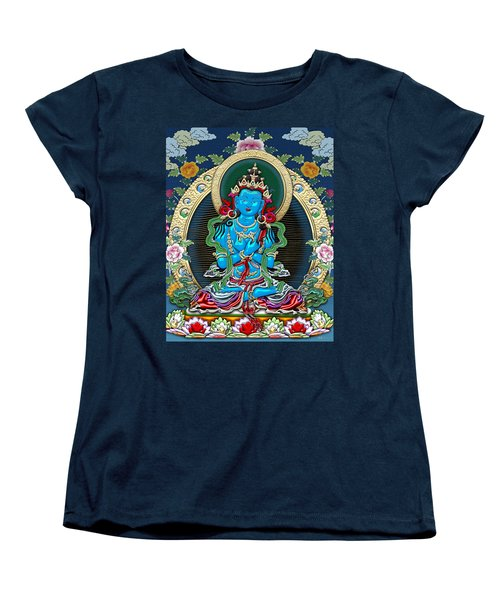 Tibetan Thangka -  Vajradhara Women's T-Shirt (Standard Cut) by Serge Averbukh
