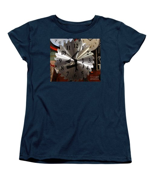 Women's T-Shirt (Standard Cut) featuring the painting Tick Tock Tick Tock by Rod Jellison