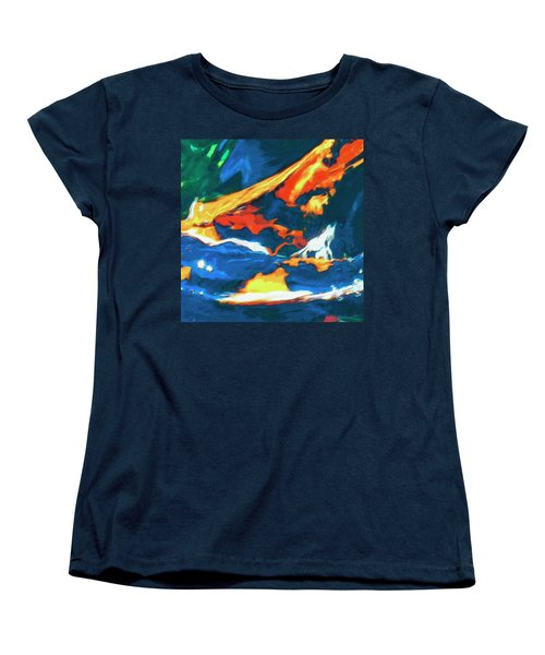 Women's T-Shirt (Standard Cut) featuring the painting Tidal Forces by Dominic Piperata