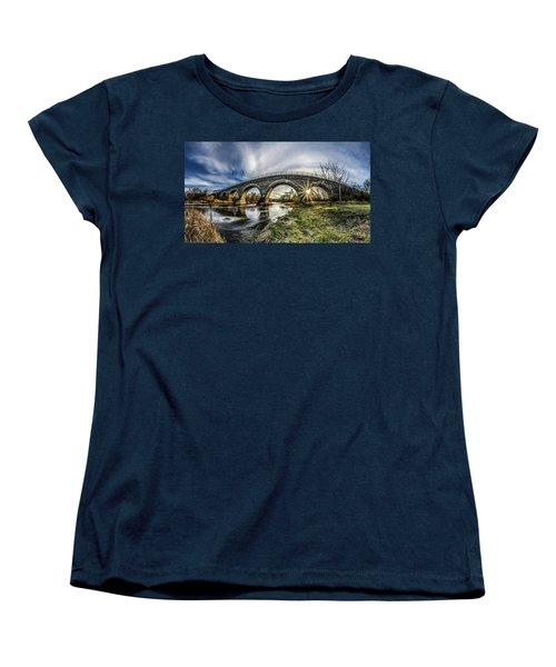 Tiffany Bridge Panorama Women's T-Shirt (Standard Cut)