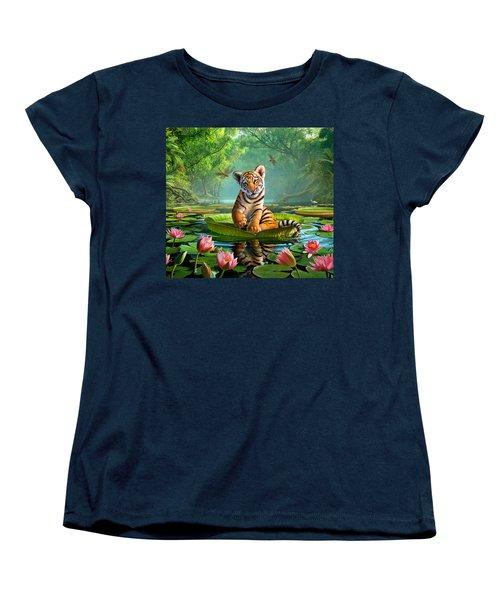 Tiger Lily Women's T-Shirt (Standard Cut) by Jerry LoFaro