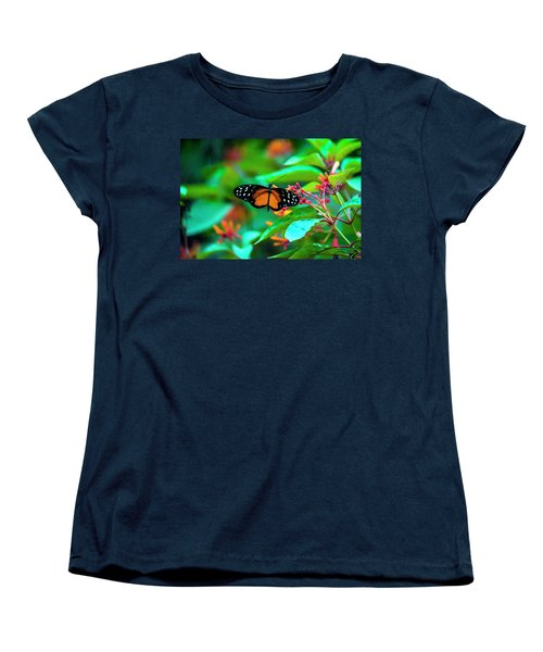 Tiger Longwing Butterfly Women's T-Shirt (Standard Cut) by David Morefield