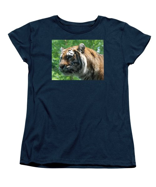 Women's T-Shirt (Standard Cut) featuring the photograph Tiger Profile by Richard Bryce and Family