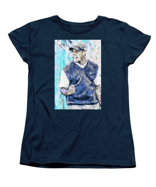 Tiger Says 2 Painting Digital Golf Women's T-Shirt (Standard Cut) by David Haskett