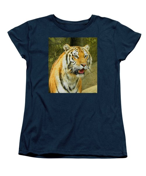 Women's T-Shirt (Standard Cut) featuring the photograph Tiger Stare by Sandi OReilly