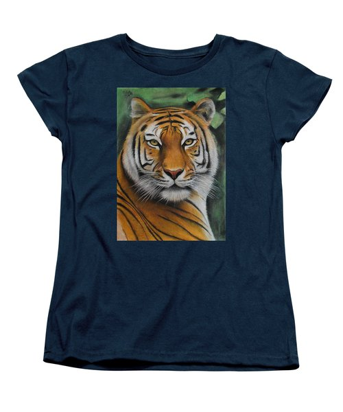 Tiger - The Heart Of India Women's T-Shirt (Standard Cut) by Vishvesh Tadsare