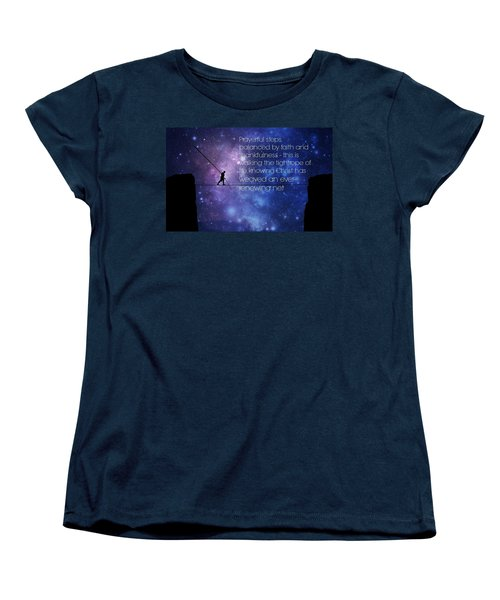 Tightrope Of Life Women's T-Shirt (Standard Cut) by David Norman