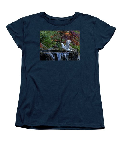 Time For A Bird Bath Women's T-Shirt (Standard Cut) by Keith Boone