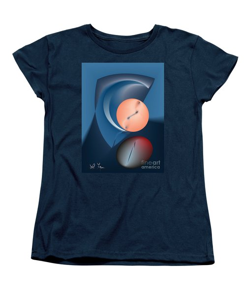 Time Is A Peculiar Game Women's T-Shirt (Standard Cut) by Leo Symon