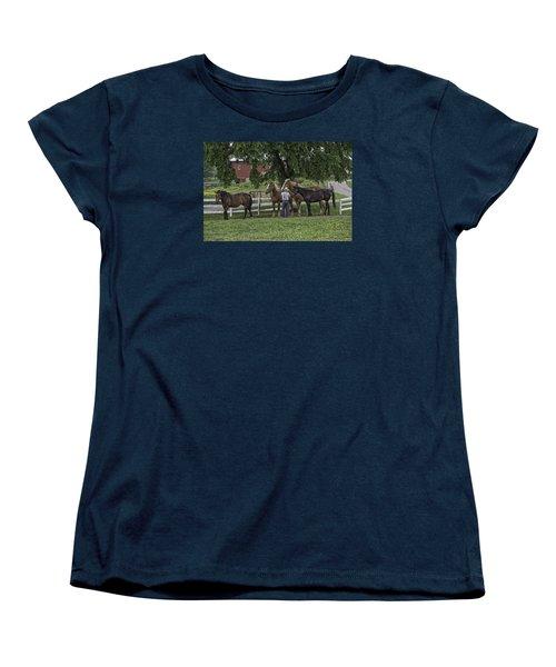 Time To Work Women's T-Shirt (Standard Cut) by Elizabeth Eldridge