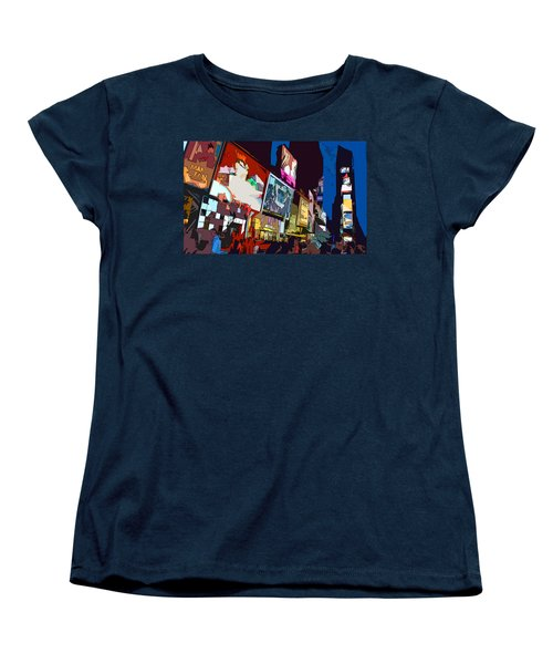 Times Square Women's T-Shirt (Standard Cut) by Christopher Woods