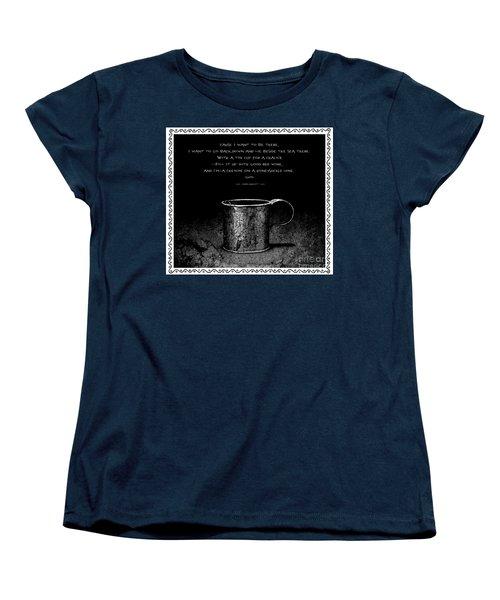 Tin Cup Chalice Lyrics With Wavy Border Women's T-Shirt (Standard Cut) by John Stephens