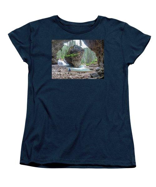 Tiny People Big World Women's T-Shirt (Standard Cut) by Alpha Wanderlust