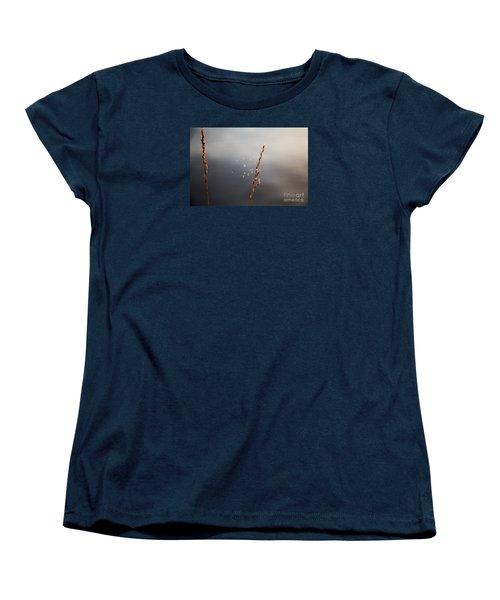 Women's T-Shirt (Standard Cut) featuring the photograph Tiny Web by Rebecca Davis