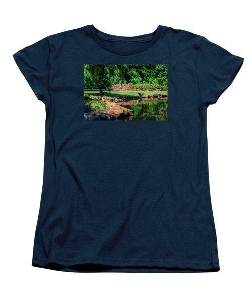 Taking A Break At The Azalea Pond Women's T-Shirt (Standard Cut) by Tamyra Ayles