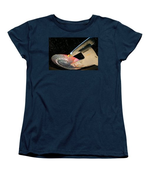 To Boldly Go Women's T-Shirt (Standard Cut) by Kristin Elmquist