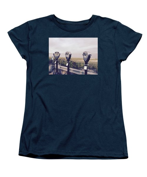 To See The Sea Women's T-Shirt (Standard Cut) by Beth Saffer