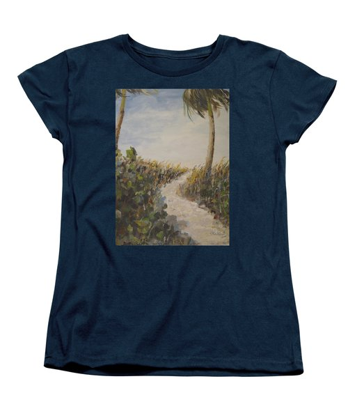 To The Beach Women's T-Shirt (Standard Cut) by Alan Lakin