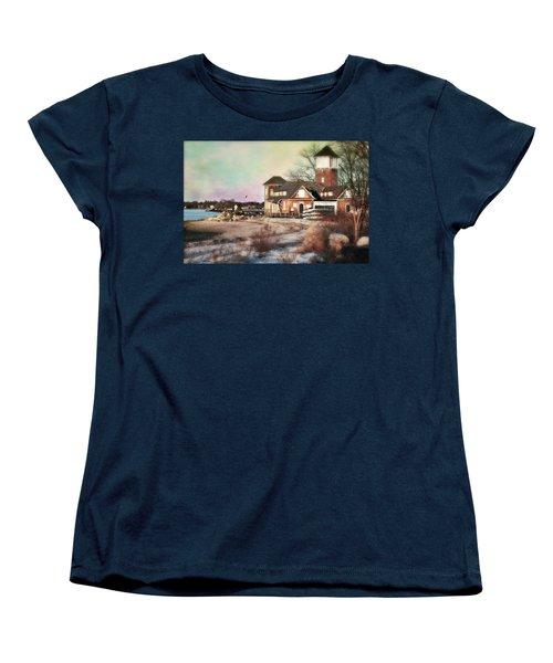 Tod's Point Beach House Women's T-Shirt (Standard Cut) by Diana Angstadt