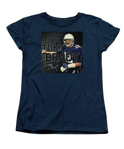 Tom Brady Women's T-Shirt (Standard Cut) by Taylan Apukovska