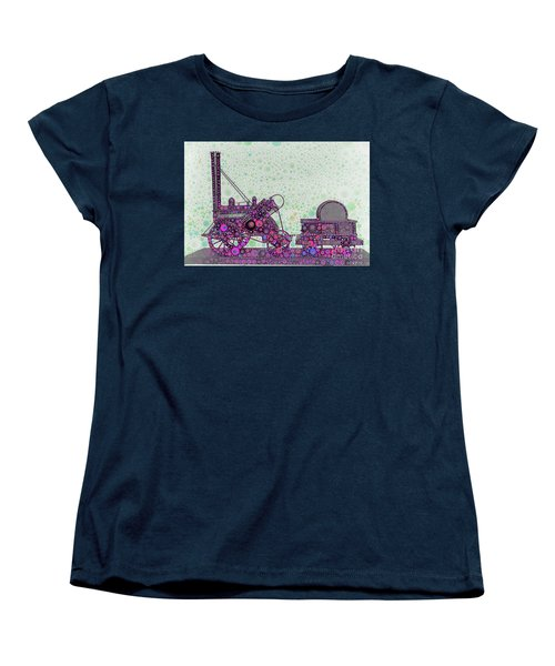 Stephenson's Rocket Steam Locomotive 1829 Women's T-Shirt (Standard Cut) by Wernher Krutein
