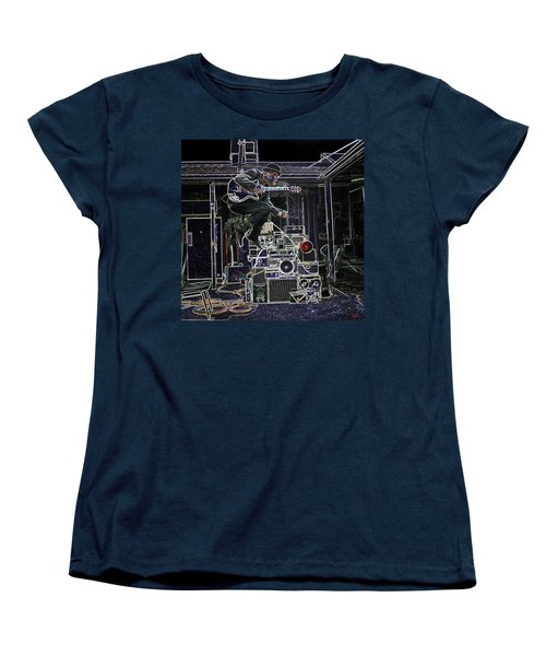 Tom Waits Jamming Women's T-Shirt (Standard Cut) by Charles Shoup