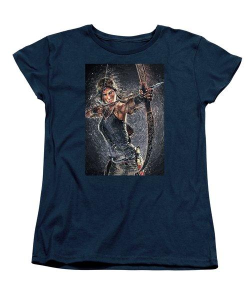 Tomb Raider Women's T-Shirt (Standard Cut) by Taylan Apukovska