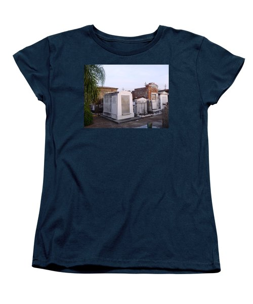 Tombs In St. Louis Cemetery Women's T-Shirt (Standard Cut) by Alys Caviness-Gober