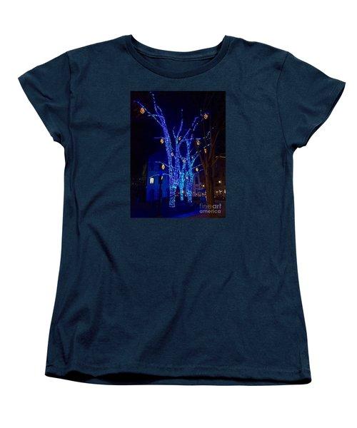 Tommy's Park, Portland, Maine,, Christmas 2015 Women's T-Shirt (Standard Cut) by Patricia E Sundik