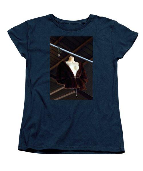 Women's T-Shirt (Standard Cut) featuring the photograph Top Fur Coat by Viktor Savchenko