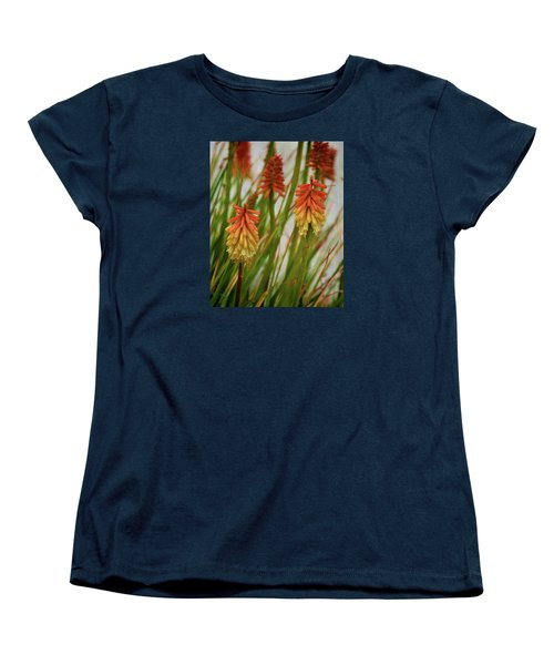 Torch Lily At The Beach Women's T-Shirt (Standard Cut) by Sandi OReilly