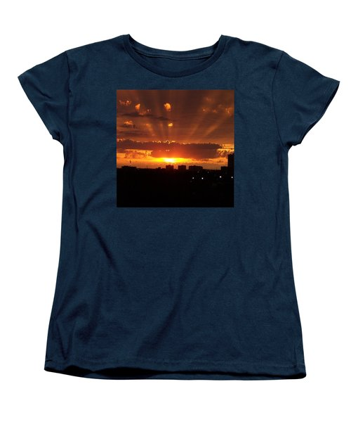 Toronto - Just One Breathtaking Sunset Women's T-Shirt (Standard Cut) by Serge Averbukh