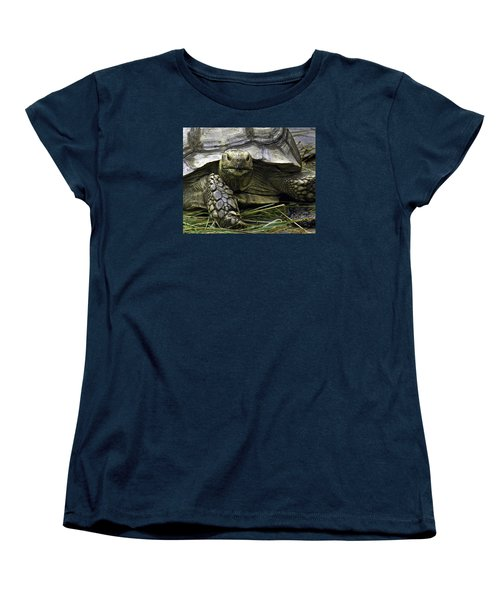 Women's T-Shirt (Standard Cut) featuring the photograph Tortoise's Stare by Betty Denise