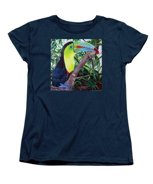 Toucan Portrait Women's T-Shirt (Standard Cut) by Marilyn McNish