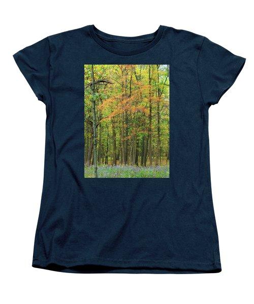 Touch Of Autumn Women's T-Shirt (Standard Cut) by Cedric Hampton