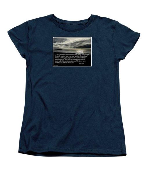Touch The Earth Women's T-Shirt (Standard Cut)