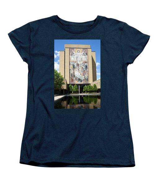 Touchdown Jesus Mural Women's T-Shirt (Standard Cut) by Sally Weigand