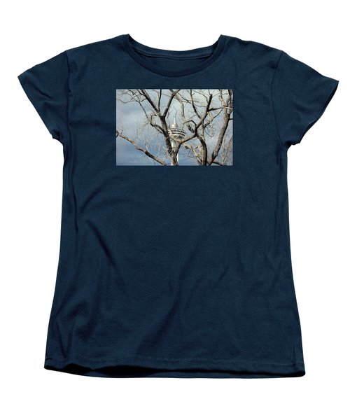 Women's T-Shirt (Standard Cut) featuring the photograph Tower And Trees by Valentino Visentini