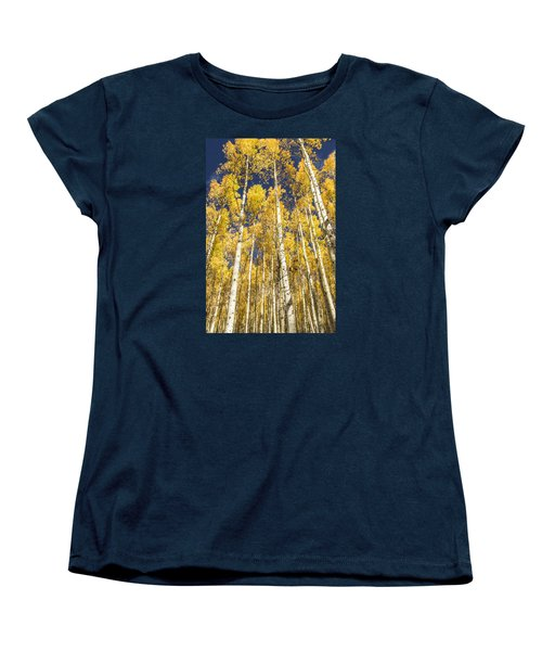 Women's T-Shirt (Standard Cut) featuring the photograph Towering Aspens by Phyllis Peterson