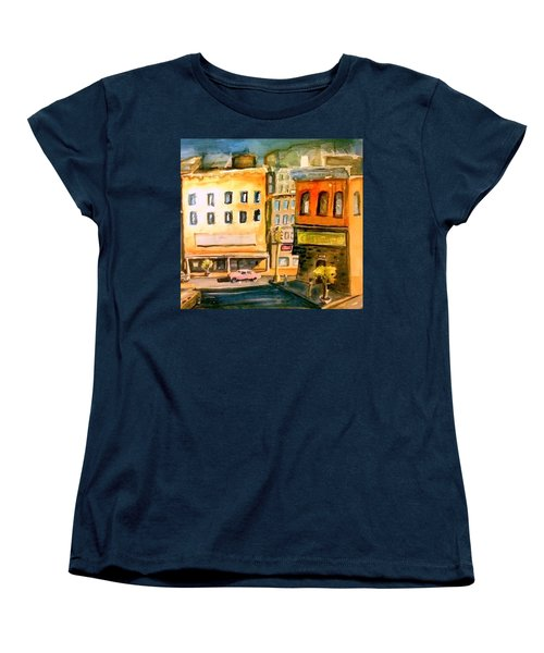 Women's T-Shirt (Standard Cut) featuring the painting Town by Steven Holder