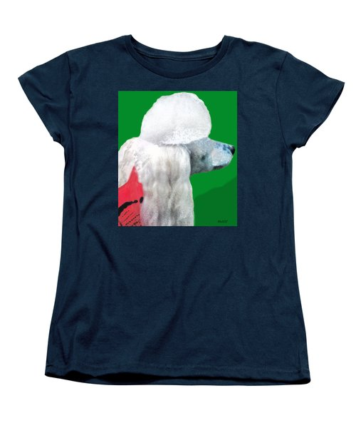 Toy Poodle Louie In His Red Sweater Women's T-Shirt (Standard Cut) by Marian Cates