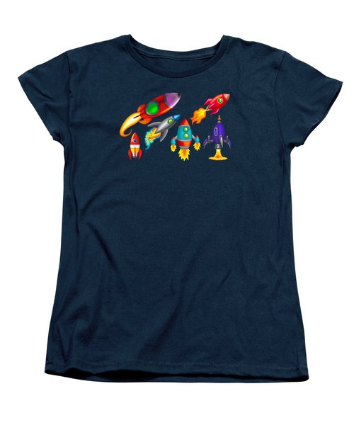 Toy Rockets Women's T-Shirt (Standard Cut) by Brian Kemper