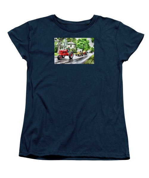 Tractors On Parade Women's T-Shirt (Standard Cut) by Rena Trepanier