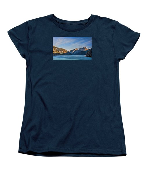 Tracy Arm Fjord  Women's T-Shirt (Standard Cut) by Lewis Mann