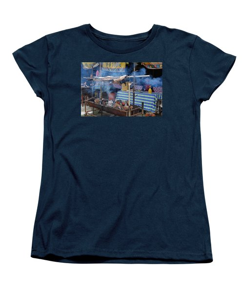Traditional Market In Taiwan Native Village Women's T-Shirt (Standard Cut) by Yali Shi