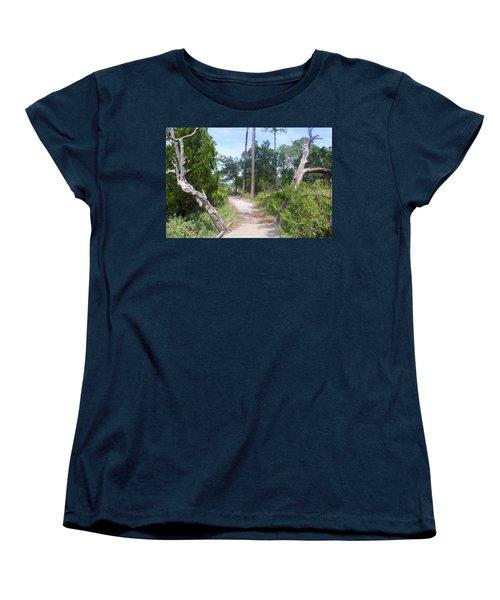 Trail On Hunting Island Women's T-Shirt (Standard Cut) by Ellen Tully