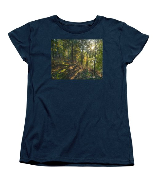 Trail Women's T-Shirt (Standard Cut) by Tim Fitzharris